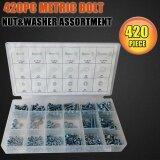 ซื้อ 420Pcs Metric Washers Nuts And Bolts Kit Hard Disk Screws Spacers Hex Set Nails Washer Assortment M3 M4 M5 M6 Hw149 Intl ใน จีน