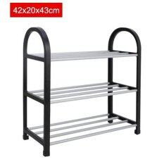 โปรโมชั่น 42X20X43Cm Portable Shoe Rack Stand Shelf Home Storage Organizer Closet Cabinet Black Intl ถูก