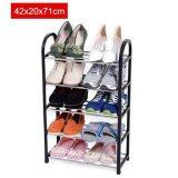 ทบทวน 42X20X71Cm Portable Shoe Rack Stand Shelf Home Storage Organizer Closet Cabinet Black Intl