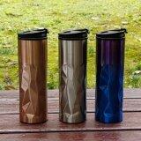 ราคา ราคาถูกที่สุด 450Ml Stainless Steel Thermos Irregular Electroplate Thermocup Tumbler Vacuum Flask Portable Water Bottle Kettle Travel Mug Intl