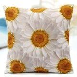 โปรโมชั่น 45 45Cm Popular Elegant Flower Pattern Pillowcase Cotton Linen Sofa Cushion Cover Home Car Decor Chrysanthemum Intl ใน Thailand