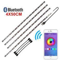 ราคา 4Pcs Usb Tv Backlight Rgb Led Strip Bluetooth Lighting Color Adjustable Unbranded Generic ออนไลน์
