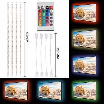 4x 0.5M USB RGB Color Mood Changing LED Strip TV Background Light Remote-
