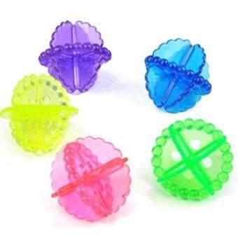 ลูกบอลซักผ้า เพิ่มแรงขยี้ (5ชิ้น/ชุด) คละสี