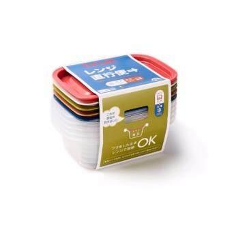 กล่องใส่อาหารอเนกประสงค์ 5 สี 5 ชิ้น เข้าไมโครเวฟได้