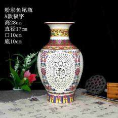 ขาย แจกัน ลายคราม ตกแต่ง บ้าน ห้องนั่งเล่น ทันสมัยจีน 5สี Royal Chinese Wears ใน กรุงเทพมหานคร