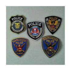 ขาย ตัวรีดติดเสื้อผ้า 5 ชิ้น Police ชุดที่ 1 ใหม่