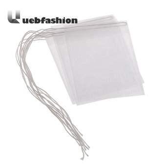 [uebfashion Zero Profit] 50pcs Portable Nylon Empty Tea Bag Seal Filter String Tea Bag(White)-6x7cm - intl