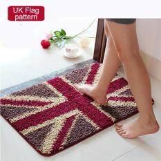ซื้อ 50X80Cm Pattern Printed Bathroom Carpets Doormats Anti Slip Polyester Floor Mat Pad For Living Room Bath Kitchen Uk Pattern Intl