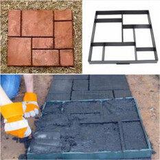 ทบทวน 51Cm Garden Plastic Path Maker Model Road Paving Cement Mould Brick Stone Road Unbranded Generic