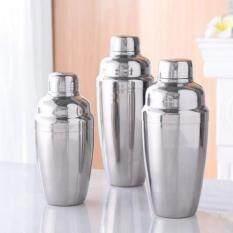 แก้วเชคค็อกเทล เชคเกอร์ผสมเหล้า ชานมไข่มุก น้ำผลไม้ อุปกรณ์ค็อกเทลสแตนเลส (530ml.)