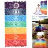 ราคา 59 Rainbow Chakra Tapestry Stripe Towel Yoga Beach Mat Sunscreen Shawl Blanket Intl ใหม่