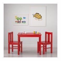 ขาย โต๊ะเด็ก แดง ขนาด 59X50 ซม ใหม่