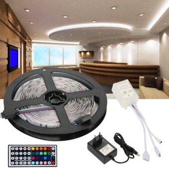 ไฟเส้น ไฟแถบ ความยาว 5m 5050 RGB 30/M LED+ 12V 3A Power supply + รีโมทคอนโทรล 44key IREU Plug
