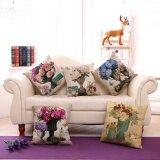 ส่วนลด 5Pcs Sofa Cushion Pillowcase Vintage Vase Pattern Cotton Linen Throw Pillow Cover Home Decor Intl