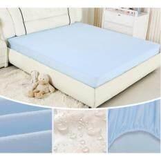 ขาย ผ้าปูที่นอนกันน้ำและการซึมเปื้อน 6 ฟุต สีฟ้า Omg ออนไลน์