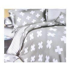 ส่วนลด ผ้าปูที่นอน 6 ฟุต 5 ชิ้น พร้อม ผ้านวม เกรด A ลายกราฟฟิก 0018 Unbranded Generic ใน กรุงเทพมหานคร