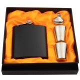 ขาย 6 Ounces Matte Stainless Steel Pocket Flask Set With Funnel 2 Cups Gift Box Intl Unbranded Generic เป็นต้นฉบับ
