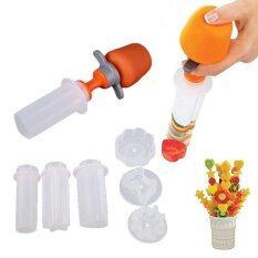 ขาย 6 Pcs Set Plastic Fruit Vegetable Shape Cutter Slicer Engraving Machine Kitchen Plastic Model Intl จีน ถูก