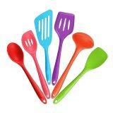ซื้อ 6 Piece Silicone Cooking Set 2 Spoons 2 Turners 1 Spoonula Spatula 1 Ladle Heat Resistant Kitchen Utensils Multicolor Intl ใหม่ล่าสุด