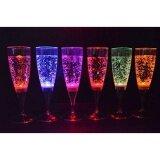 ราคา ราคาถูกที่สุด 6 Set Led Light Wine Flute Light Up Liquid Activated Champagne Glasses For Wedding New Yearparty Flute Multicolor