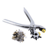6 Sized Heavy Duty Leather Hole Punch Hand Pliers Belt Holes Punches 8 Tool Intl เป็นต้นฉบับ