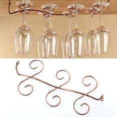 ราคา 6 แก้วไวน์วางอยู่ใต้ชั้นวางตู้นึ่งข้าวไม้แขวนเสื้อแสดงผล Unbranded Generic ออนไลน์