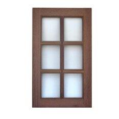 ซื้อ หน้าต่างไม้ 60 100 ตารางสเปน กรอบไม้หน้า 4 ไม้เนื้อแข็ง No Brand ถูก