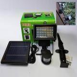 ราคา โคมไฟสปอร์ตไลท์ โซล่าเซลล์ พลังงานแสงอาทิตย์ ติดผนัง ปักพื้น 60Led Smd 3 W เซ็นเซอร์ ใหม่