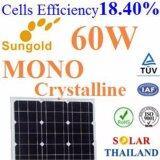 ซื้อ 60W แผงโซลาร์เซลล์ Mono Crystalline Pv Module High Cell Efficiency 18 40 กรุงเทพมหานคร