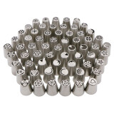 ส่วนลด สินค้า 62Pcs Set Stainless Steel Russian Tulip Nozzles Cake Decorating Tools Pastry Tips Icing Piping Nozzle Intl