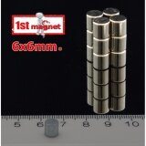 ราคา แม่เหล็กแรงสูง นีโอไดเมียม ขนาด 6Mmx6Mm 20ชิ้น ที่สุด