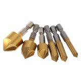 ซื้อ 6Pcs Set 90 Degrees Five Blade Plating Titanium High Quality Steel 1 4 Inch Hexagonal Shank Five Edge Chamfer Countersink Set 6Mm 8Mm 10Mm 12Mm 16Mm 19Mm Intl ออนไลน์ ฮ่องกง
