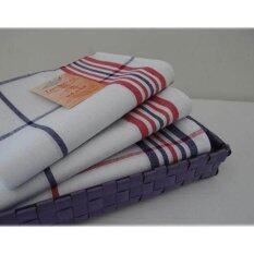 ขาย ซื้อ ออนไลน์ 6Pcs Lot Cotton Tea Towel Napkins Cloth Napkin Table Placemat Kitchen Dish Tea Towels Super Absorbent Kitchen Dishcloths 40X65Cm Intl