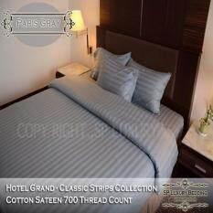 ขาย Sp Luxury ชุดผ้าปูที่นอนเกรดโรงแรมลายริ้ว 7 ฟุต 5 ชิ้น สีเทา Sp Luxury