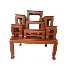 ซื้อ โต๊ะหมู่บูชาไม้สัก หมู่ 7 หน้า 7 ถูก แพร่