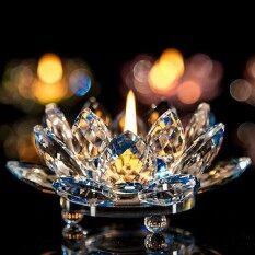 7 สีแก้วคริสตัลโลตัสดอกไม้ชาเทียนพุทธเชิงเทียน - นานาชาติ.