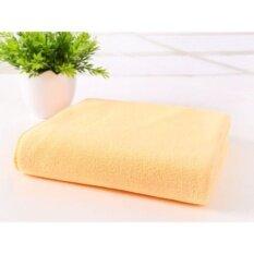 ราคา 70X140 เซนติเมตรไมโครไฟเบอร์ Absorbent Drying Bath Washcloth ชุดว่ายน้ำฝักบัวอาบน้ำ สีส้ม ใหม่