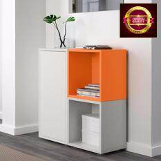 ส่วนลด ชุดตู้ตั้งพื้น สีขาว ส้ม เทาอ่อน 70X25X72 ซม No Brand
