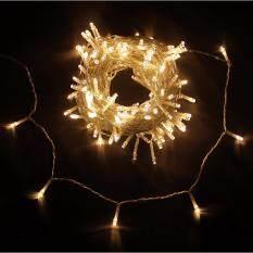 ราคา สายไฟตกตแต่งห้องนอน ห้องนั่งเล่น โคมไฟ ตกตแต่งงานแต่งงาน ยาว 8 เมตร 100 ดวง สี Warm Light Sara ใหม่