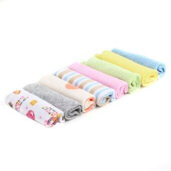 ผ้าเช็ดตัวสำหรับทารก ชุด 8 (หลายสี)