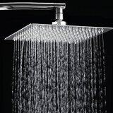 ราคา 8 Inch Rainfall Shower Head Ultra Thin Stainless Steel High Polish Chrome Luxury Durable Rain Showerhead Unbranded Generic เป็นต้นฉบับ