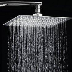 ขาย 8 Inch Rainfall Shower Head Ultra Thin Stainless Steel High Polish Chrome Luxury Durable Rain Showerhead Unbranded Generic ออนไลน์