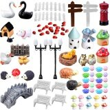 ซื้อ 80Pcs Mini Miniature Ornaments Kit Set Toys Micro Landscape Accessories For Kids Child Adults Diy Fairy Garden Plant Pot Dollhouse Home Office Decoration Intl Vococal ออนไลน์