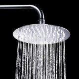 ราคา 8Inch Round Stainless Steel Ultra Thin Top Sprayer Faucet Overheaded Rain Rainfall Shower Head Spray Supplies For Bathroom Intl Vococal