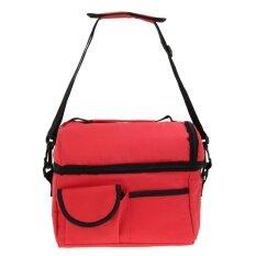 8L สแควร์กระเป๋าสำหรับสุภาพสตรีชายกลางวัน สีแดง สนามบินนานาชาติ จีน