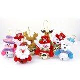 ราคา ราคาถูกที่สุด 8Pcs Christmas Hanging Ornament Classic Snowman Santa Claus Hanging Dolls For Christmas Tree Intl
