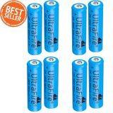 ราคา 8Pcs Ultrafire 4800Mah 18650 Rechargeable Lithium Li Ion Batteries Blue ออนไลน์