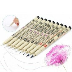 8x Pigma Manga Comic Graphic Markers Drawing Fine Point Ink Pens Brush Kit Beige - Intl.