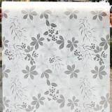 ราคา ราคาถูกที่สุด สติ๊กเกอร์ฝ้าติดกระจก แบบมีกาวในตัว ดอกไม้ สีขาวเทา หน้ากว้าง 90Cmx500Cm